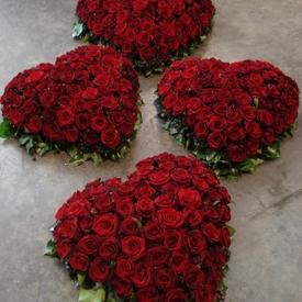 Rode rozen hart