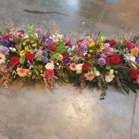 Kistbedekking bloemen mix voorjaar